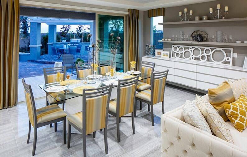 Woodside Homes offers floor plans in Skye Canyon, a northwestern valley master-planned community. (Woodside Homes)