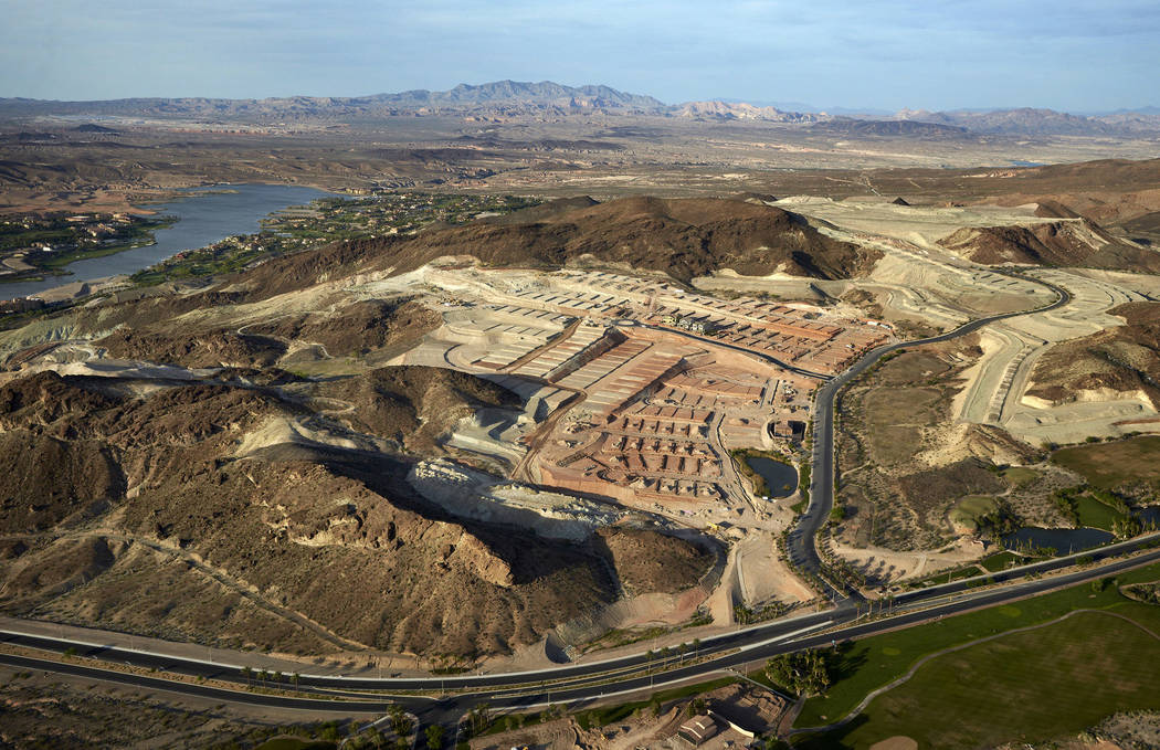 This April 21, 2016, photo shows construction work on housing lots near Lake Las Vegas in Henderson. (AP Photo John Locher)