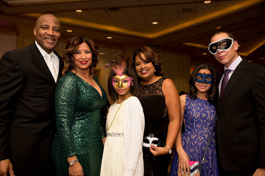 Lester and Stacy Conner with family at the Nevada Association of Real Estate Brokers Jan. 27 installation dinner at the Suncoast. (Tonya Harvey Las Vegas Business Press)