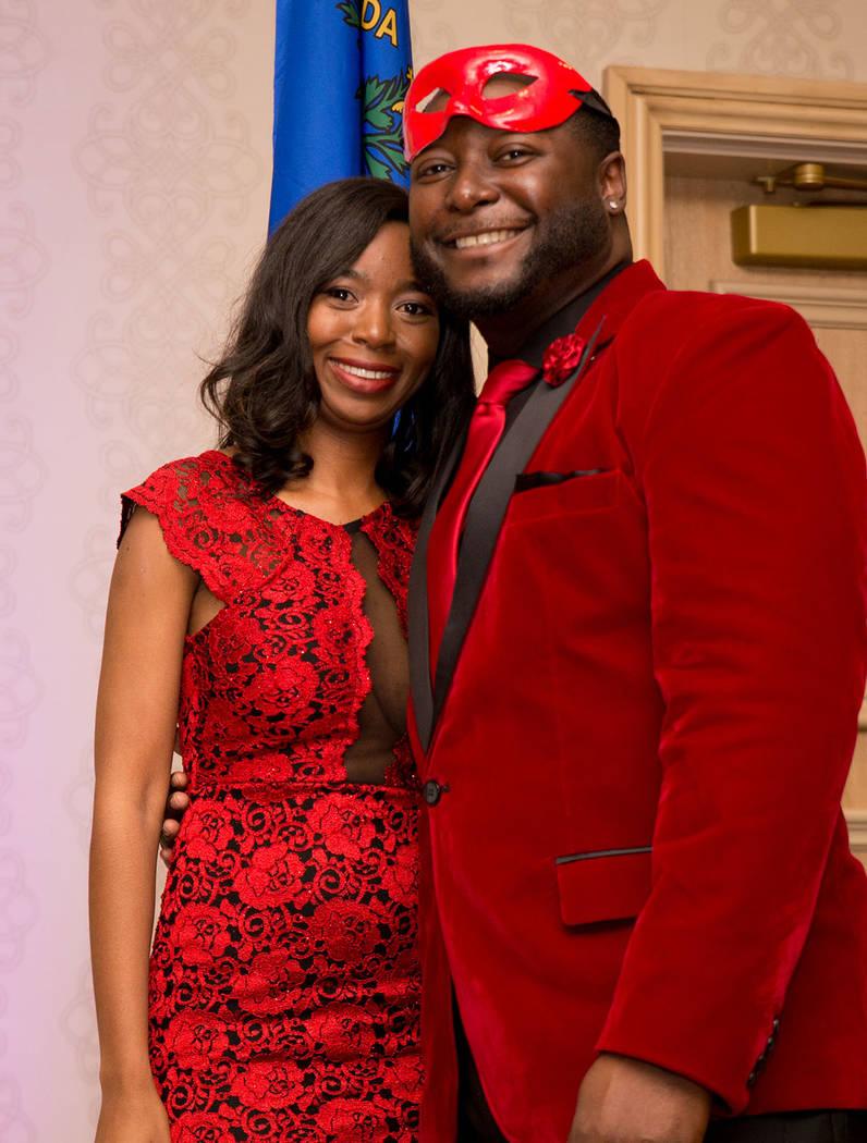 Shanta Patton and Darius Toston. (Tonya Harvey Las Vegas Business Press)