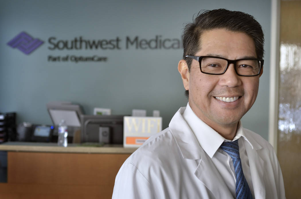 Dr. Sam Bauzon, medical director for Southwest Medical Lifestyle Centers, said the majority of chronic conditions for his senior patients are diabetes and high blood pressure. (Bill Hughes Busines ...
