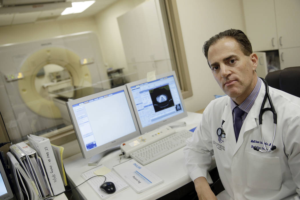 Matthew Schwartz, a radiation oncologist with Comprehensive Cancer Centers of Nevada, said people should look at cancer trends on a nationwide basis and over time. (Bill Hughes Business of Medicine)