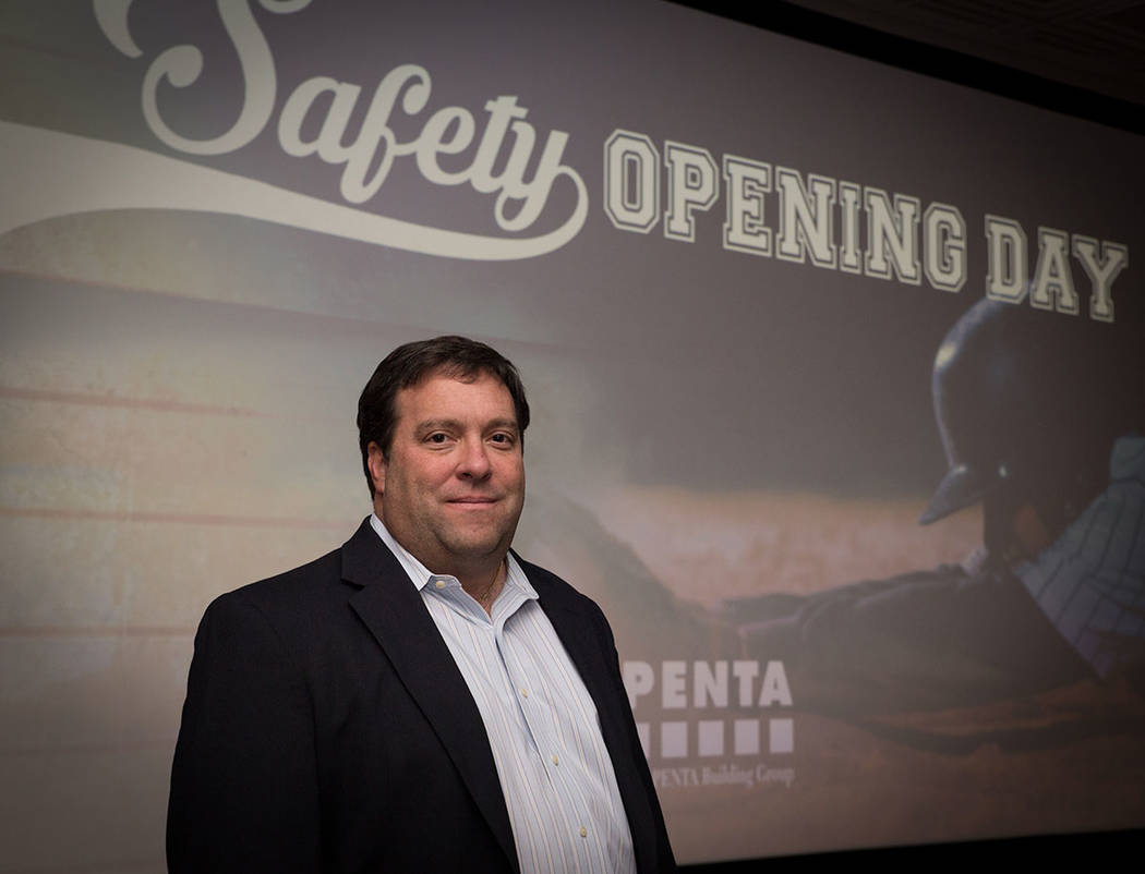 Penta Building Group COO John Cannito speaks at an annual safety event. (Tonya Harvey Business Press)