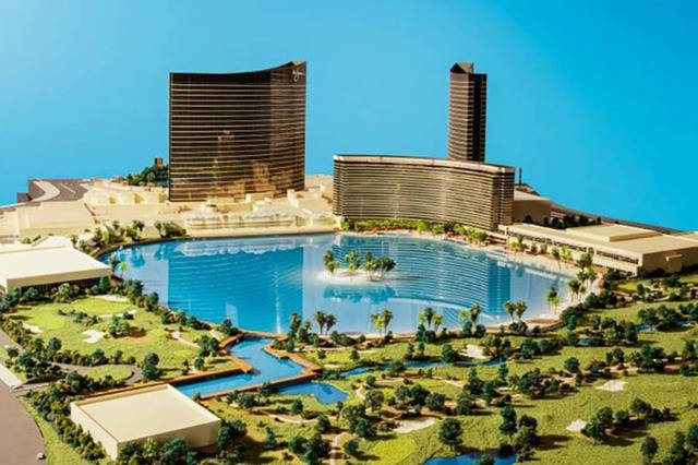 A rendering of the proposed Wynn Resorts Paradise Park on the Las Vegas Strip. (JP Morgan/Wynn Resorts)