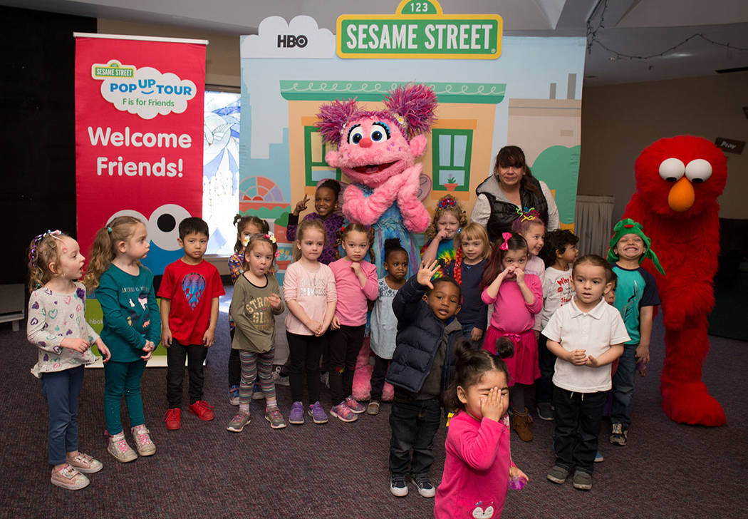 On March 2, Sesame Street's Elmo and Abby Cadabby visited children at the Family Promise of Las Vegas, a transitional housing program for homeless families. (TONYA HARVEY LAS VEGAS BUSINESS PRESS)