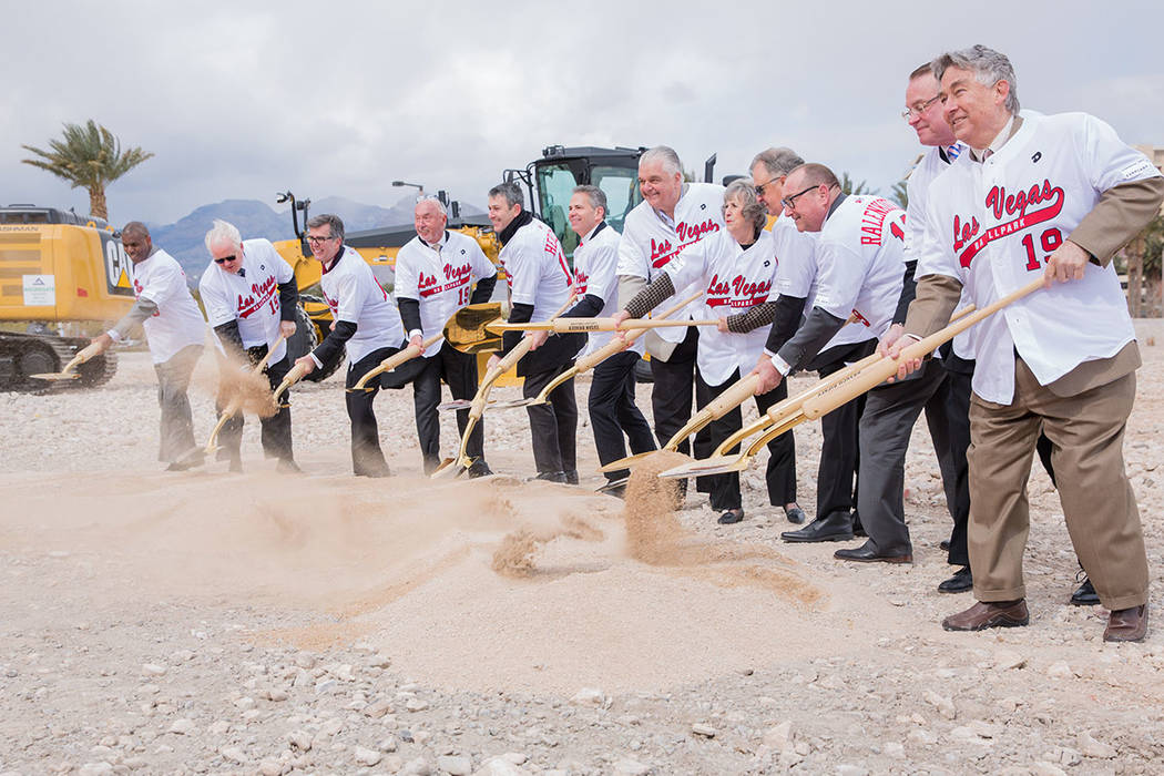 Local officials gathered Feb. 23 to break ground on the Las Vegas Ballpark, a 10,000-person capacity baseball stadium in Downtown Summerlin. (Downtown Summerlin)