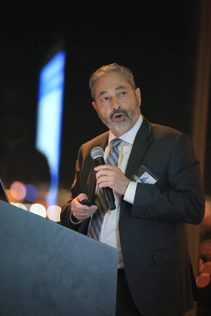 John Restrepo, of RCG Economics Las Vegas, brought global and national economic news down to the local level during Insight, held March 14 at the M Resort. (Henderson Chamber of Commerce)