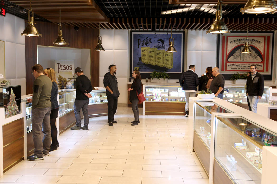 Pisos dispensary, at 4110 S. Maryland Parkway is on the forefront of using cryptocurrency in the Nevada marijuana industry. (K.M. Cannon Las Vegas Business Press)