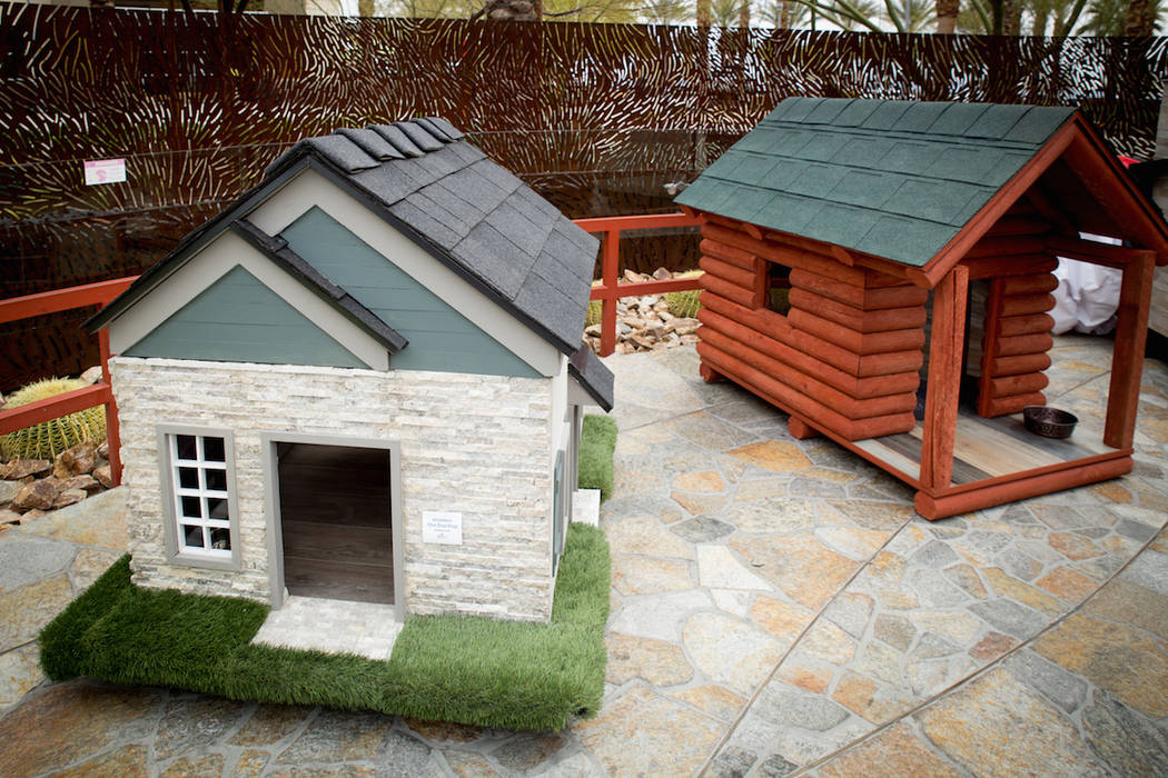 The doghouses will be on auctioned off through May 20. Proceeds go to support Southern Nevada homeless.
