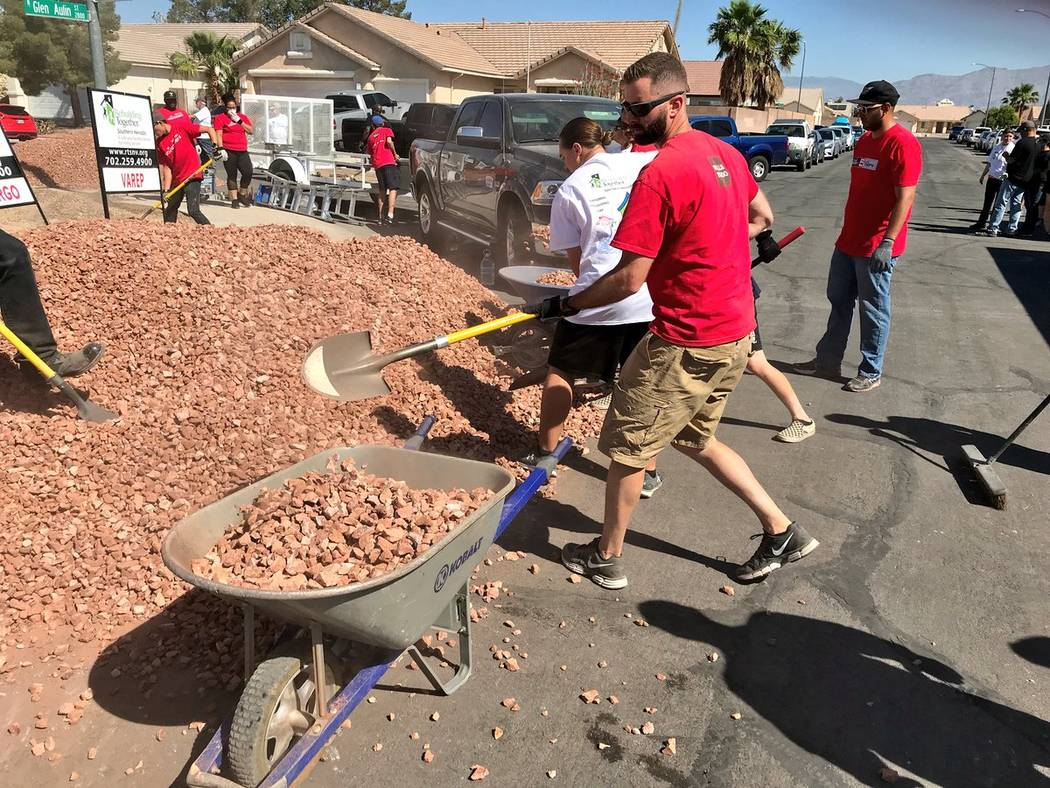 Wells Fargo Bank presented Rebuilding Together Southern Nevada a grant for $90,000 for affordable veteran housing in Las Vegas. (Wells Fargo Bank)