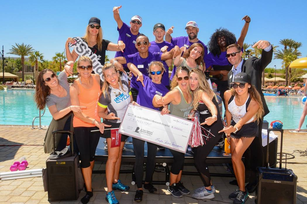 Life Time Athletic Green Valley hosted its annual cycling fundraiser, Ride for a Reason, to benefit St. Jude Children's Research Hospital and the Life Time Foundation. (Life Time Athletic Green ...
