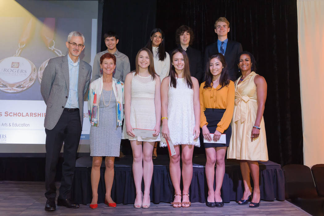 On April 21, The Rogers Foundation awarded 38 Clark County School District high school seniors with more than $2 million in college scholarships. (The Rogers Foundation)