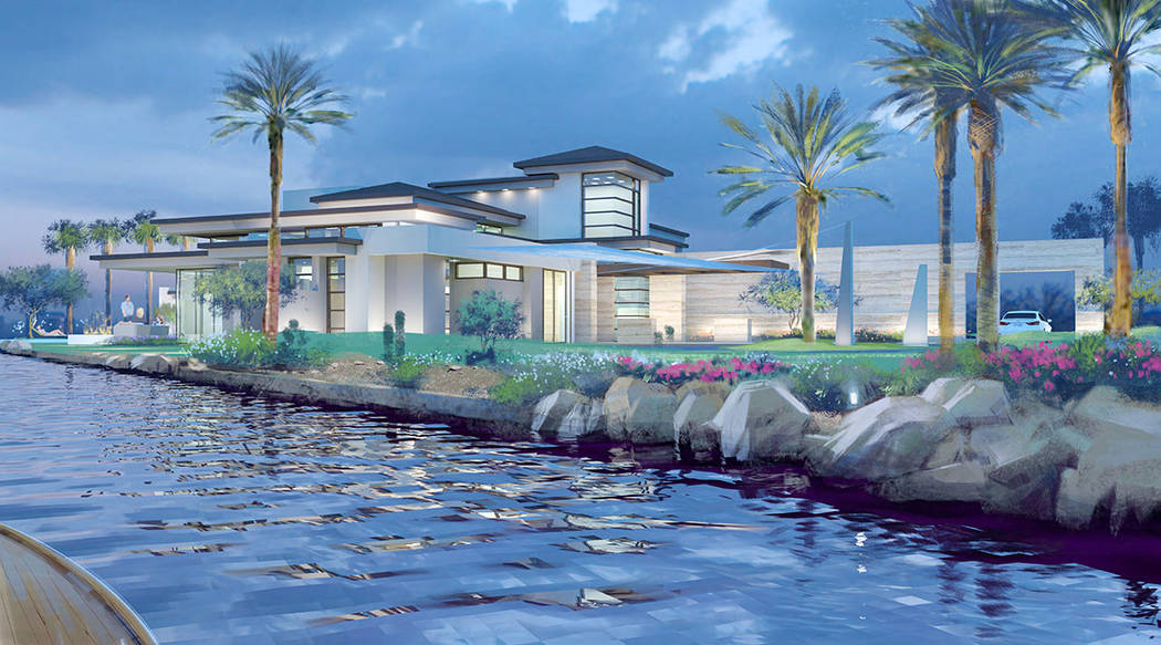 The 8,500-square-foot home is on Lake Las Vegas' South Shore. (Swaback Architects + Planners)
