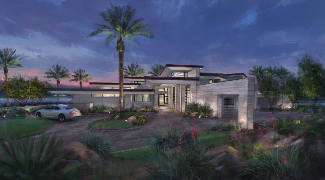 A $6.775 million showcase home at Estates at Reflection Bay, Lake Las Vegas is under construction. (Swaback Architects + Planners)