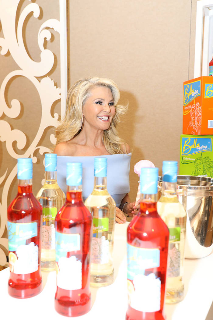 Supermodel Christie Brinkley mingles with fans while promoting her Bellissima brand Prosecco on May 2 at the Wine & Spirits Wholesalers of America Annual Convention & Exposition. (Wine & Spirits W ...