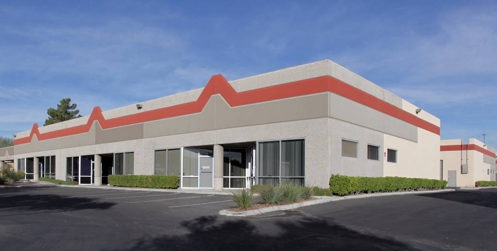 Special to the Las Vegas Business Press Pictured is an industrial real estate development at 5190 S. Valley View Blvd. The existing development is one of three acquired by Southern California-base ...