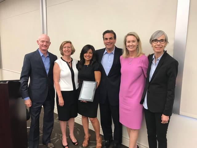 From left, Brad Lewis, Barbara Buckley, Sarah Guindy, John Guedry, Chris Gaynor and Connie Akridge attend an event where Bank of Nevada received an award by the Legal Aid Center of Southern Nevada.