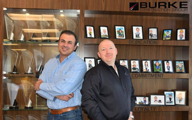 Burke Construction Group has added Dimitri Mihaloliakos and Thad Lawrence as shareholders and principals.
