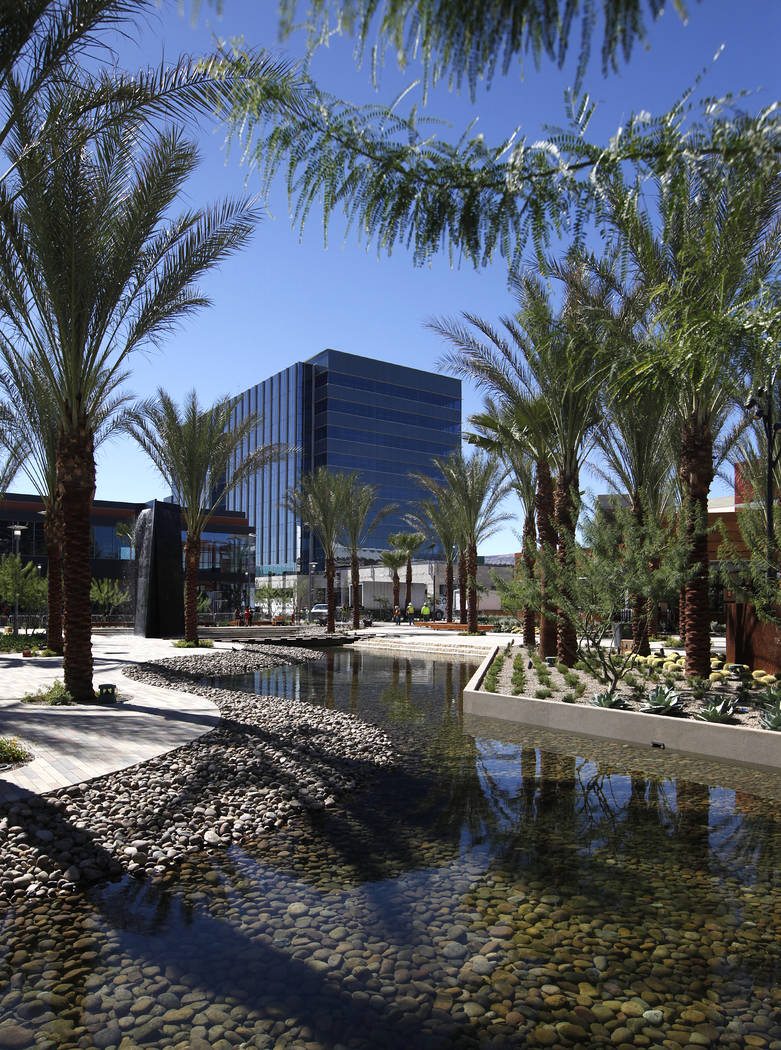 A view of the office building in Downtown Summerlin on Oct. 6, 2014. (Justin Yurkanin Las Vegas Business Press)