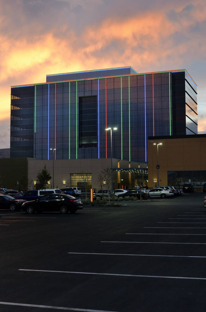 The exterior of One Summerlin, a 200,000-square-foot, nine-story office tower in Downtown Summerlin, is shown at 1980 Festival Plaza Drive Jan. 12, 2015. (Bill Hughes Las Vegas Business Press)