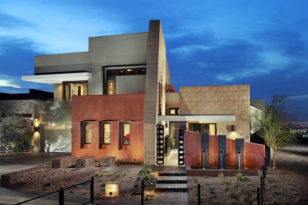 The Wall model in Pardee Home's Axis community in Henderson won a Silver Nugget Award for homes priced between $750,000 and $1,299,000. (Pardee Homes)