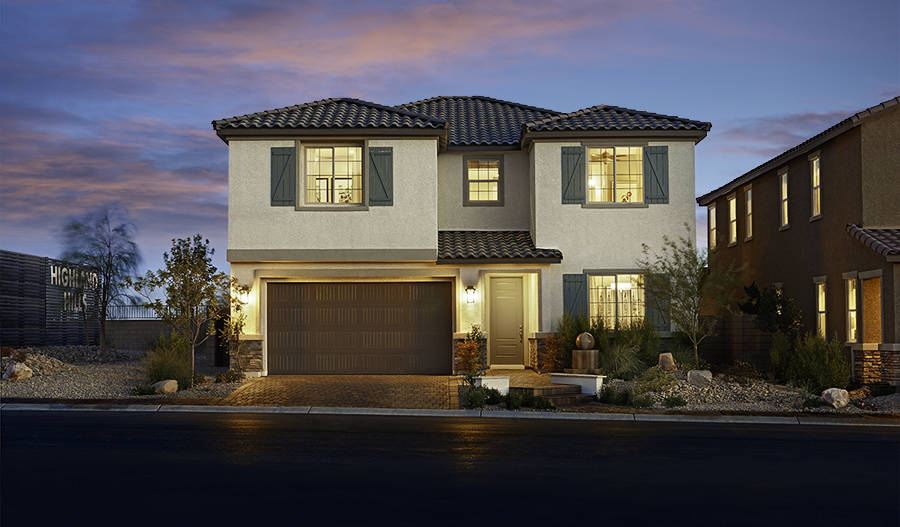 The builder's single-family home Coronado (at Coleburn at Highland Hills), won in its category of homes priced $300,000 to $375,999. (Richmond American Homes)