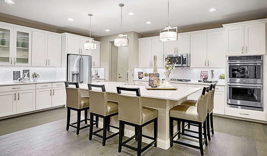 The kitchen in the Coronado at Coleburn at Highland Hills. (Richmond American Homes)
