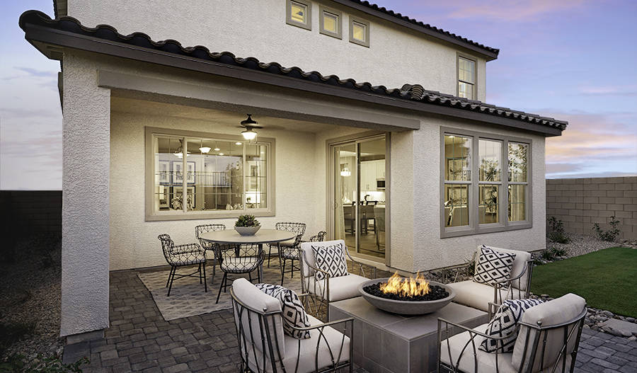 The Coronado at Coleburn at Highland Hills has a patio area. (Richmond American Homes)