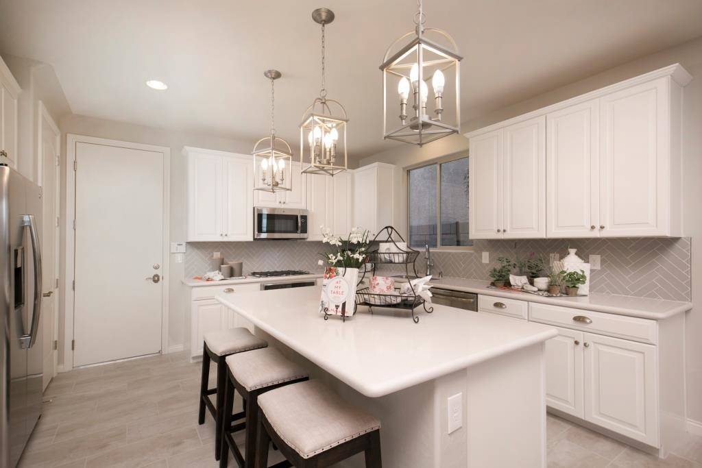 The kitchen in the Lillian model in Highland Hills. (Richmond American Homes)