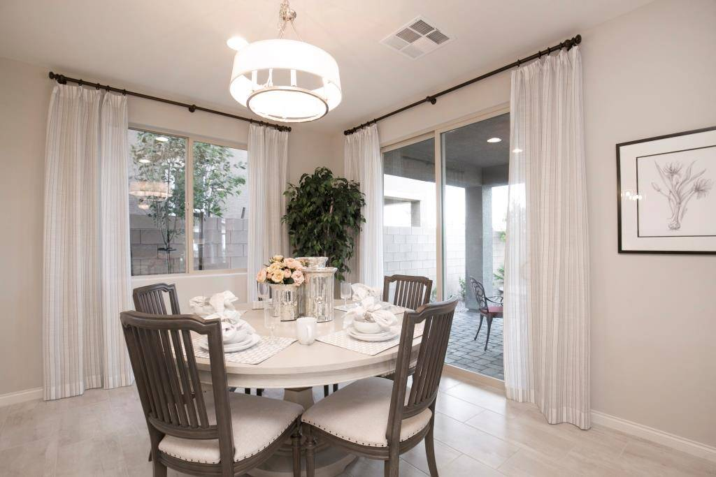 The breakfast nook in the Lillian model in Highland Hills. (Richmond American Homes)
