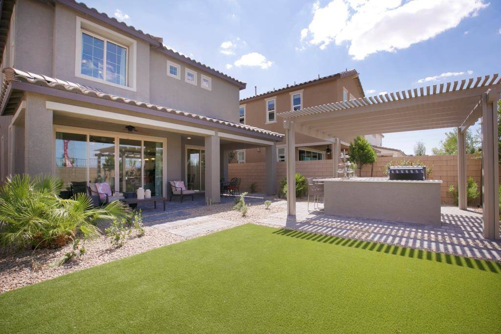 The Lillian model in Highland Hills has a patio area in the backyard. (Richmond American Homes)