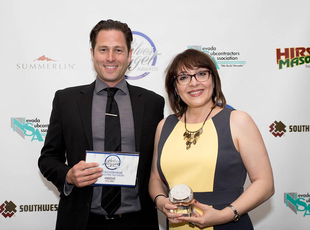 Jason Demuth and Suhair Riedere, Pulte Homes. (Tonya Harvey Las Vegas Business Press)