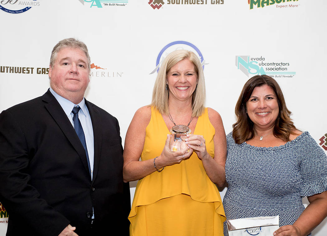 From left, Darren Greer, Kim Chitwood and Maria Salviati of William Lyon Homes. (Tonya Harvey Las Vegas Business Press)