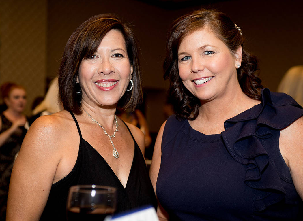 Lani Klug-Dorlack, Las Vegas Review-Journal; and Colleen McCullough, Toll Brothers. (Tonya Harvey Las Vegas Business Press)