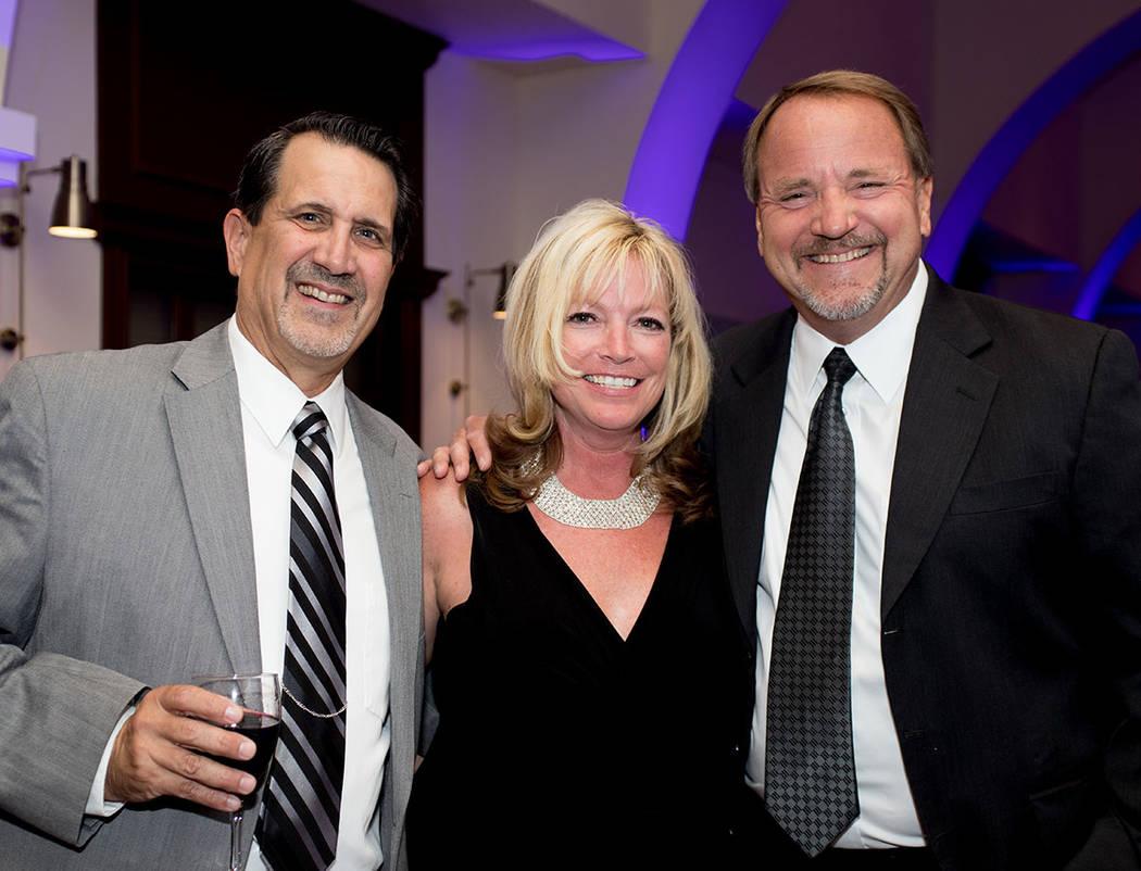 Nat, Southern Nevada Home Builders Association, and Debbie Hodgson and Rocky Cochran, Pardee homes, retired. (Tonya Harvey Las Vegas Business Press)