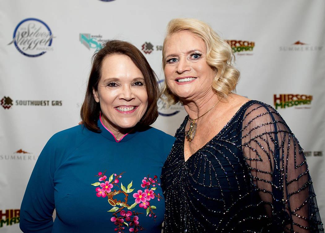 Robin Smith, Smith Team of Keller Williams Las Vegas; and Claire DeJesus, Las Vegas Review-Journal. (Tonya Harvey Las Vegas Business Press)
