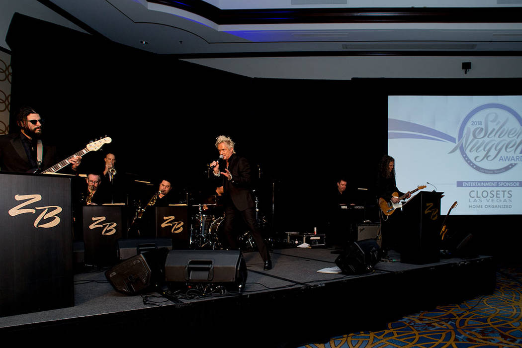 Zowie Bowie provided entertainment for the 2018 Silver Nugget Awards gala. (Tonya Harvey Las Vegas Business Press)