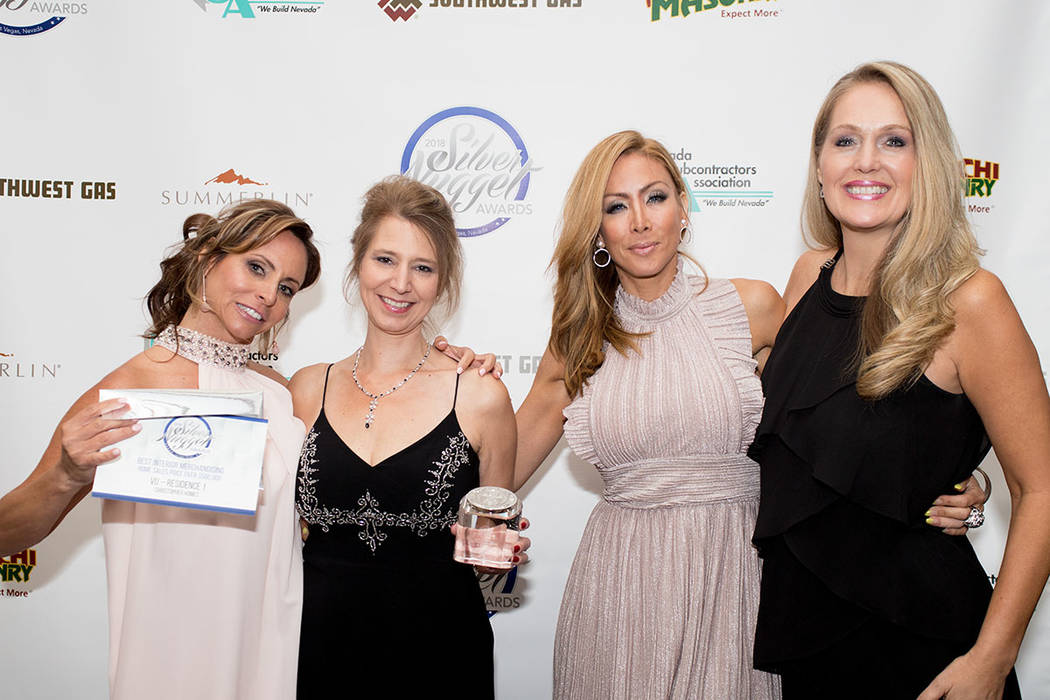 From left, Kim Stuhmer, Erika Geiser, Yvette Tirado, Sherylyn Pulse of Christopher Homes. (Tonya Harvey Las Vegas Business Press)