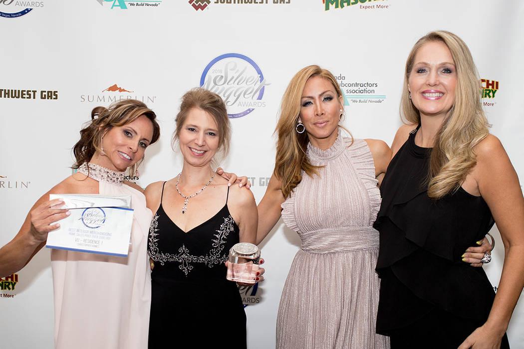 From left, Kim Stuhmer, Erika Geiser, Yvette Tirado, Sherylyn Pulse of Christopher Homes. (Tonya Harvey Las Vegas Business Press)