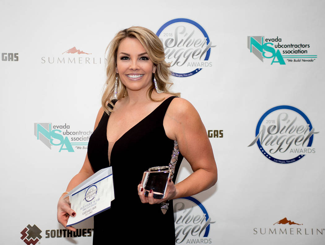 Karen Wellman, Pulte Homes, won the Sales Person of the Year for homes more than $500,000. (Tonya Harvey Las Vegas Business Press)