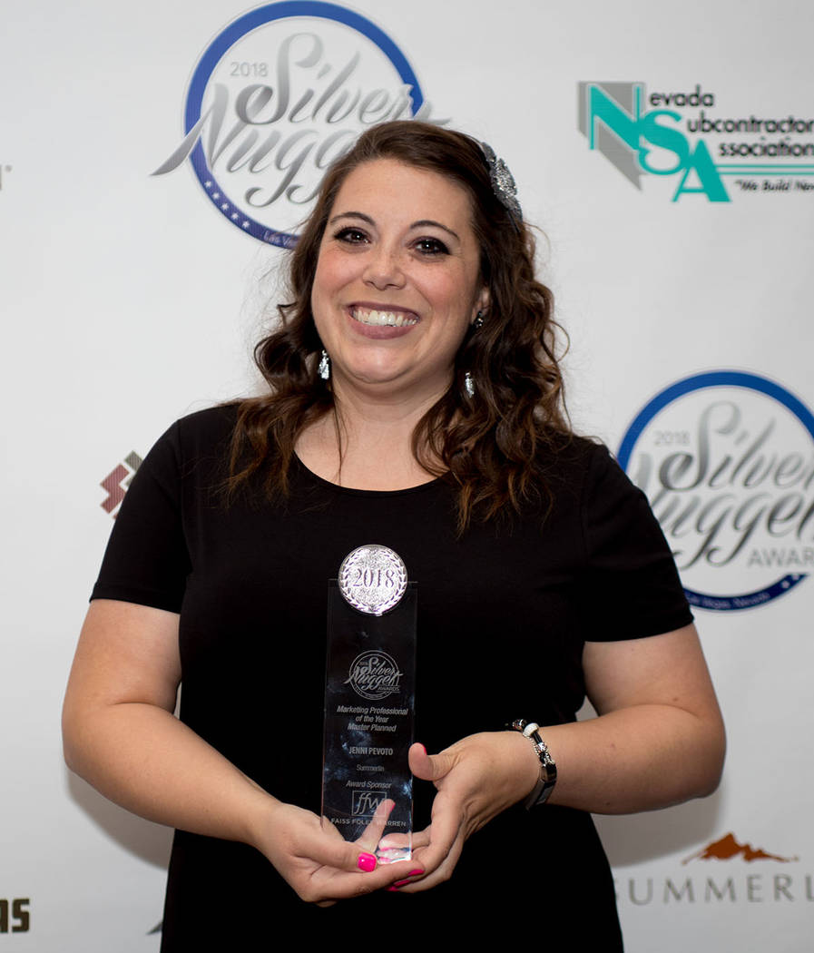 Jenni Pevoto Howard Hughes Corp., Summerlin, won the Marketing Professional of the Year. (Tonya Harvey Las Vegas Business Press)