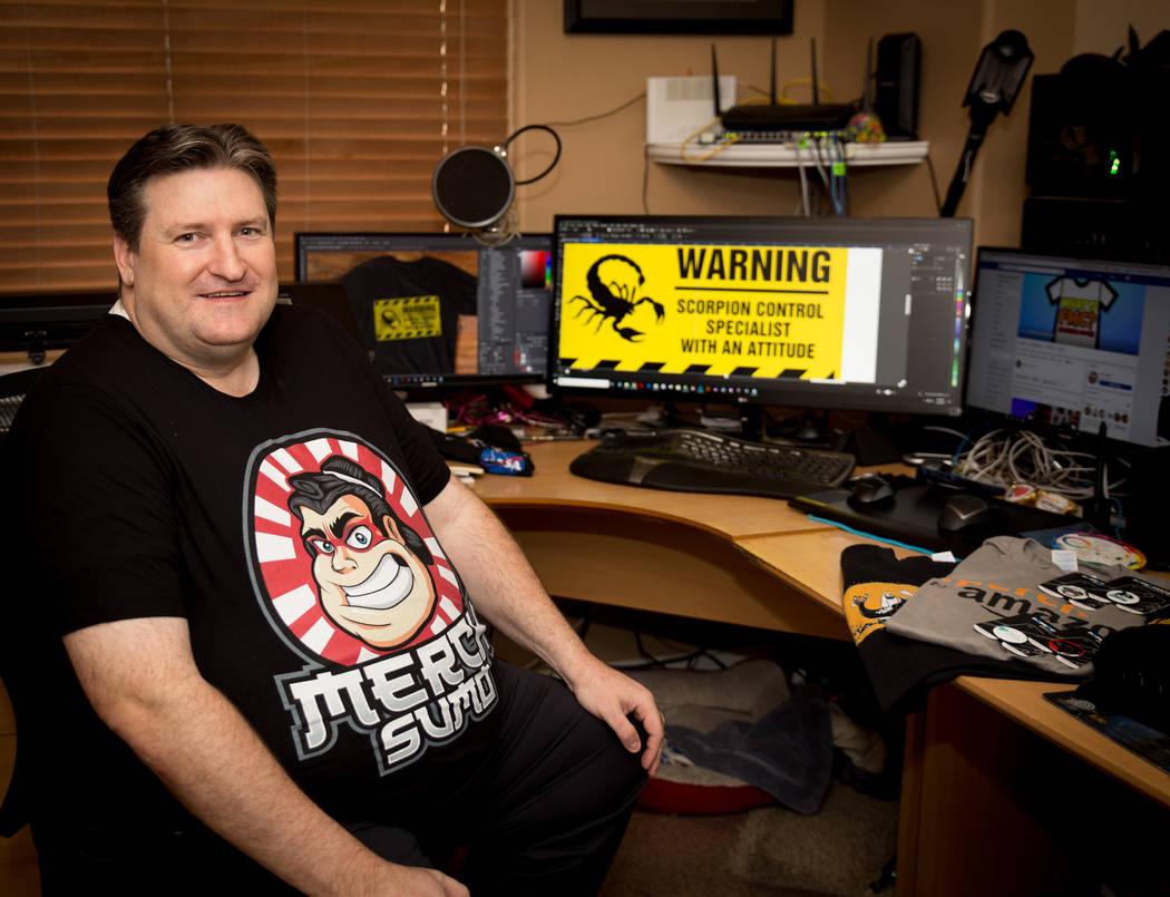 Ken Reil designs T-shirts throughMerch by Amazon. (Tonya Harvey Las Vegas Business Press)