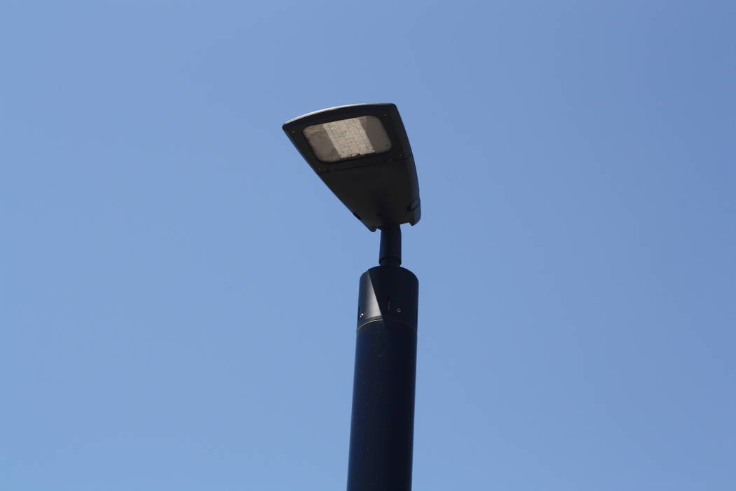 The solar street lights in MacDonald Highlands are designed to be modern. (MacDonald Highlands)