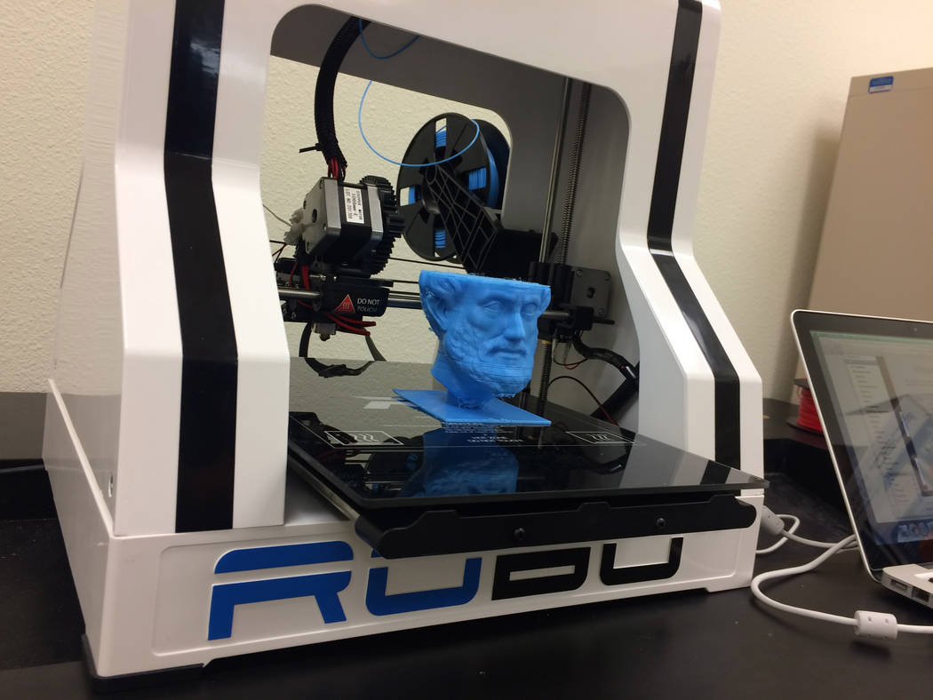 One of the services offered by Nevada Business Development Services is 3D printing to develop prototype products. (Lucas Thomas, Cooperative Extension)