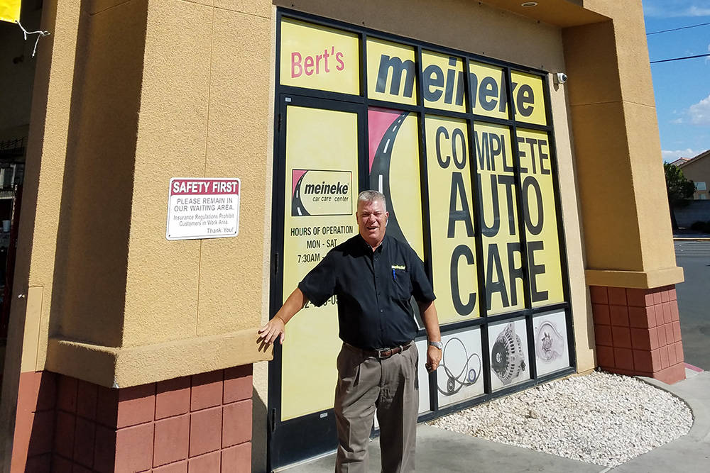 Bert Figearo owns 16 of the 21 Meineke franchises in the Las Vegas Valley.