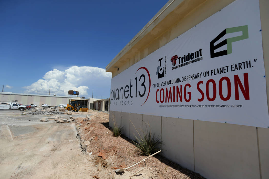 Planet 13 Superstore dispensary, a cannabis entertainment complex, under construction at 2548 W. Desert Inn Road will open Nov. 1. (K.M. Cannon RJRealEstate.Vegas)