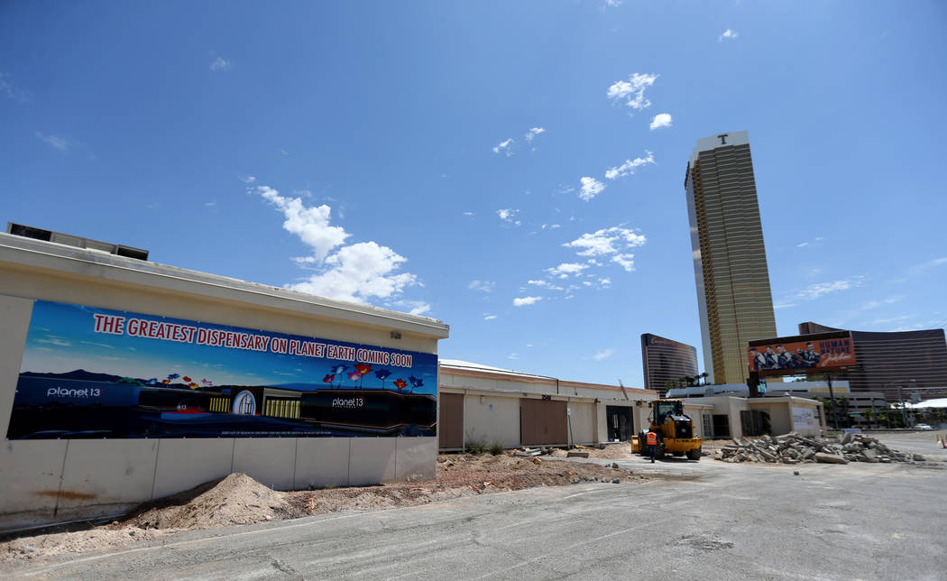 Planet 13 Superstore dispensary, a cannabis entertainment complex, under construction at 2548 W. Desert Inn Road will open in Nov. 1. (K.M. Cannon Las Vegas Business Press)