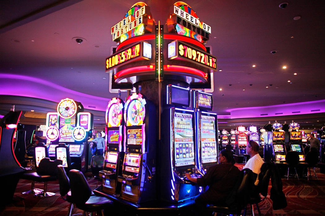 Slot machines on the Stratosphere's casino floor Jan. 30, 2017. (Rachel Aston Las Vegas Business Press)