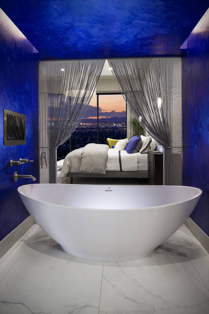 Vu town homes offer luxury master suites with baths. (Christopher Homes)