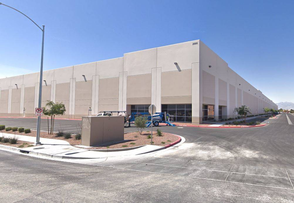 A lease to Pacific Paper Tube Inc. The 56,847-square-foot industrial property is at 2695 N. Lamb Blvd. Total consideration is $2,299,904.57. (Larkin Industrial Group, NAI Vegas)